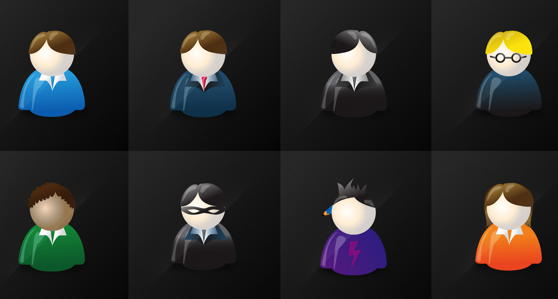 Vector Character Icon Set @ GraphicRiver.net