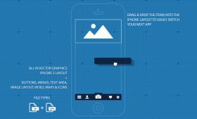 iPhone 5 UI / GUI Blueprint App Sketch @ GraphicRiver.net