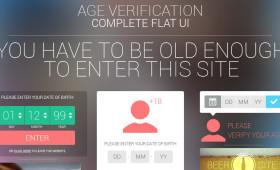 Age Verification Complete Flat UI