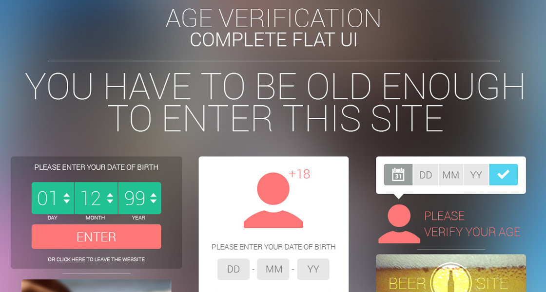 Age Verification Complete Flat UI