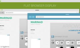 Flat Browser Display Mockup