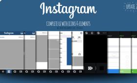 FREE Instagram Vector UI iOS7 2014