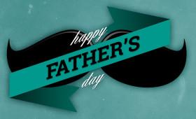 Happy Father's Day Moustache Design