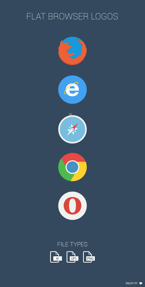 flat browser logotypes