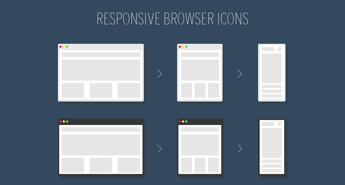 FREE Responsive Browser Icons