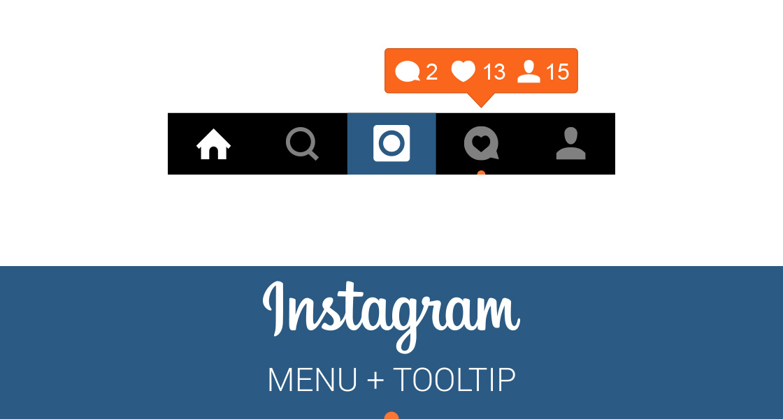 FREE Instagram Menu and Notification Tooltip
