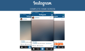 FREE Instagram Home Screen PSD UI