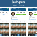 instagram ui profile