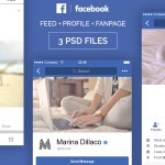 facebook ui mobile psd