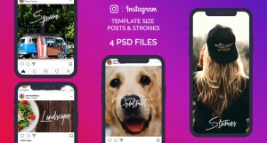 instagram images sizes dimensions template mockup