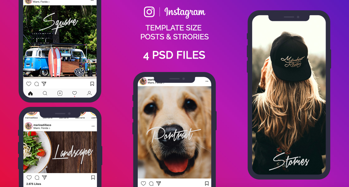 FREE Instagram Image Sizes & Dimensions Template