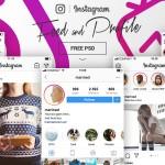 instagram ui psd download freebie