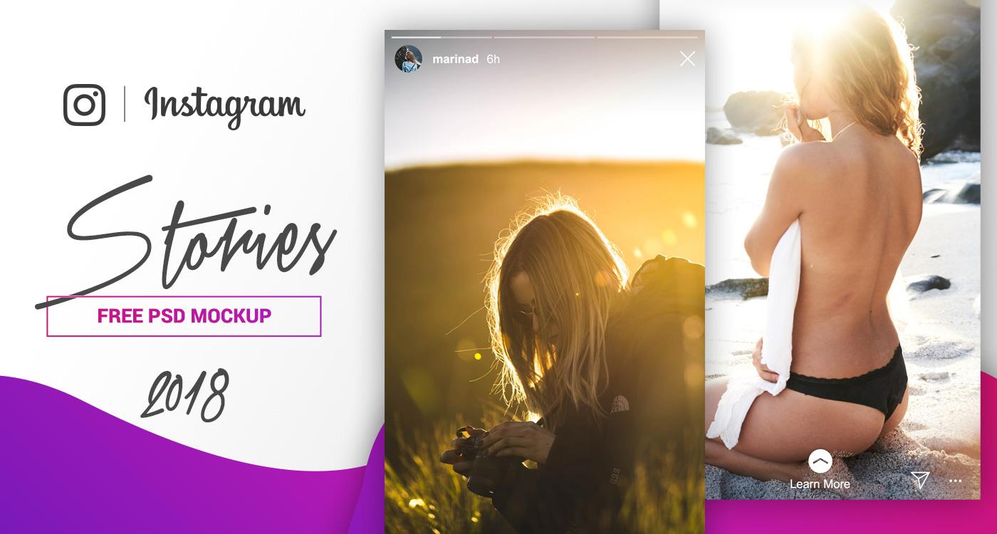 FREE Instagram Stories Mockup – 2018